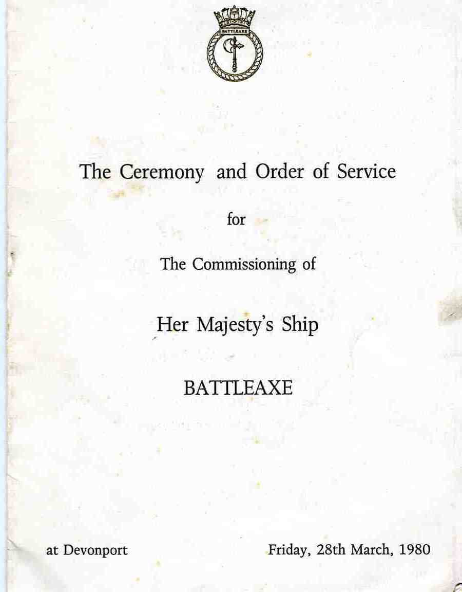 Click to see full 'Order of Service' including crew list.